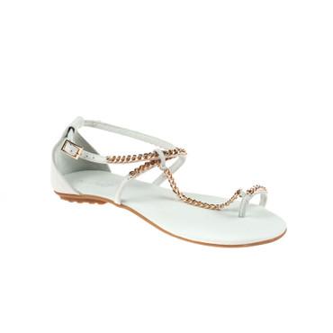 Inuovo Damen Sandale Leder Weiß  – Bild 1
