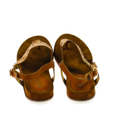 Sixth Sens Damen Sandale Leder Braun  – Bild 3