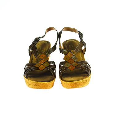 Pie Libre Damen Sandale Leder Braun – Bild 2