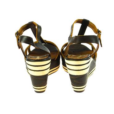 Zapato Damen Keilsandaletten Leder Braun – Bild 3