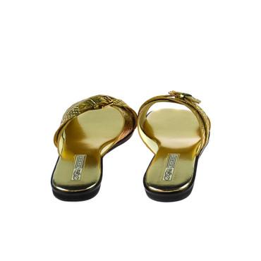 Buffalo Damen Sandalen Leder Gold – Bild 3