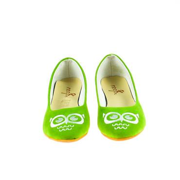Neefs Damen Ballerina Textil Grün mit Stickerei – Bild 2