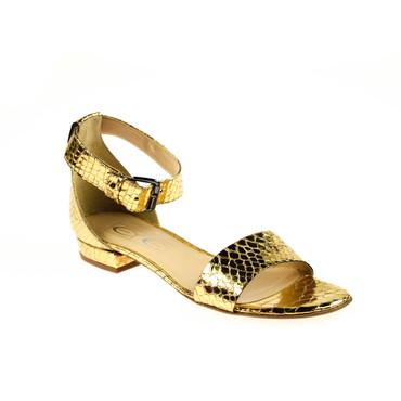 EYE Damen Sandalen Leder Gold  – Bild 1