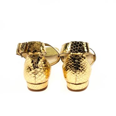 EYE Damen Sandalen Leder Gold  – Bild 3