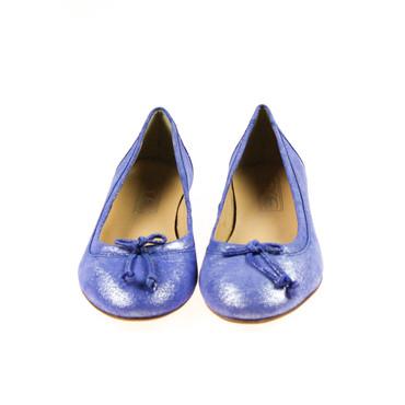 EYE Damen Ballerinas Leder Blau – Bild 2