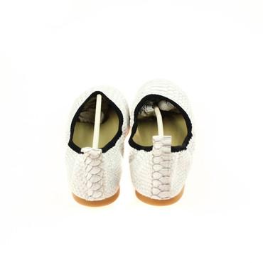 Foldy Damen Ballerinas Leder Weiß – Bild 3