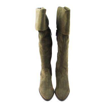Perlato Damen Stiefel Wildleder Taupe – Bild 2