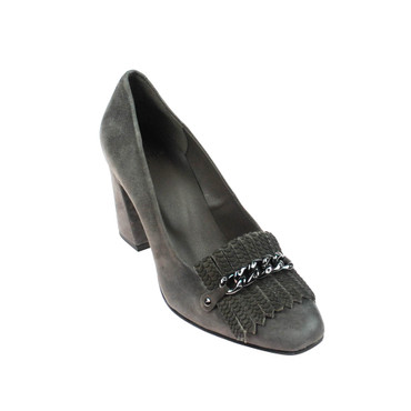 Perlato Damen Pumps Willdleder Grau  – Bild 1