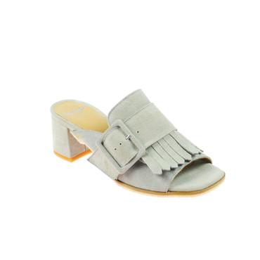 Perlato Damen Sandalen Leder Grau – Bild 1