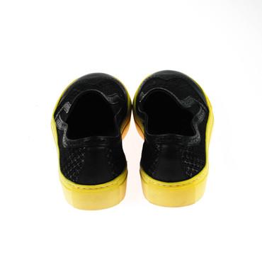 2.Wahl Made By Heart Damen Sneaker Slipper Leder Schwarz  – Bild 3