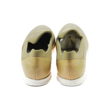 Perlato Damen Halbschuh Sneaker Leder Beige Braun – Bild 3