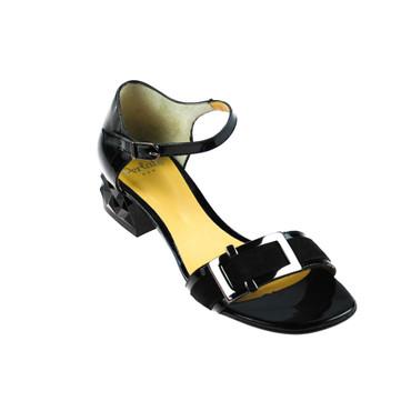 Perlato Damen Sandale Lackleder Schwarz – Bild 1