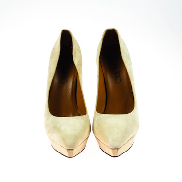 2.Wahl Di Lauro Damen Pumps Wildleder Beige – Bild 2