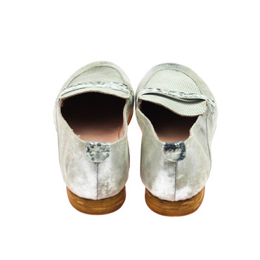 Charme Damen Halbschuh Leder Grau Silber  – Bild 3