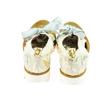 Charme Damen Halbschuh Leder Braun Gold Weiß Mehrfarbig – Bild 3
