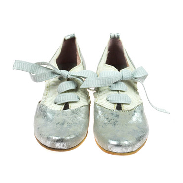 Charme Damen Halbschuhe offen Leder Weiß Grau Silber Mehrfarbig – Bild 2