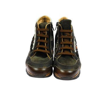 Charme Damen Sneaker High Top Leder Braun Dunkelbraun Bronze Mehrfarbig – Bild 2