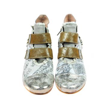 Charme Damen Halbschuh Leder Grau Silber Braun Mehrfarbig – Bild 2
