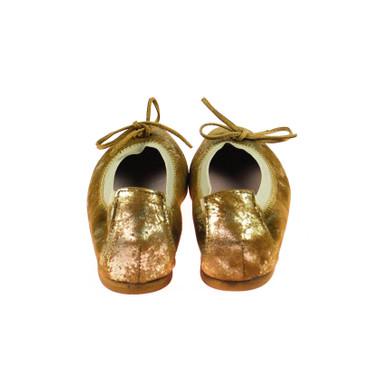 Charme Damen Ballerinas Leder Braun Silber Mehrfarbig – Bild 3