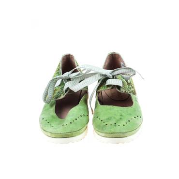 Charme Damen Halbschuh Leder Silber Weiß Grün Mehrfarbig – Bild 2