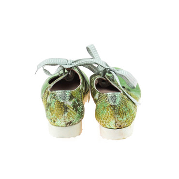 Charme Damen Halbschuh Leder Silber Weiß Grün Mehrfarbig – Bild 3