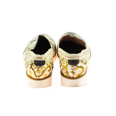 Charme Damen Halbschuh Sneaker Leder Grau Silber Weiß Rot Gold Mehrfarbig – Bild 3