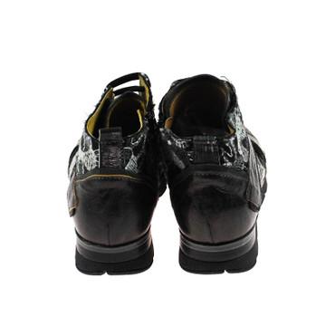 Charme Damen Sneaker High Top Leder Dunkelbraun Weiß Gold Schwarz Mehrfarbig – Bild 3