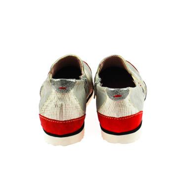 Charme Damen Sneaker Grau Rot Silber Weiß Mehrfarbig – Bild 3