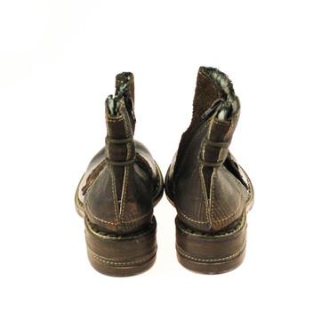 Charme Damen Stiefelette Halbschuh Boots Leder Braun Dunkelbraun Bronze Mehrfarbig – Bild 3