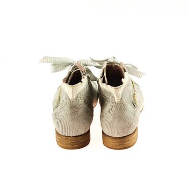 Charme Damen Halbschuh Stiefelette Leder Grau Weiß Silber Mehrfarbig – Bild 3