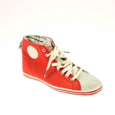 2.Wahl Bobbie Burns Damen Sneaker High Top Rot Grau – Bild 1