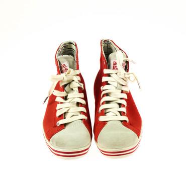 2.Wahl Bobbie Burns Damen Sneaker High Top Rot Grau – Bild 2