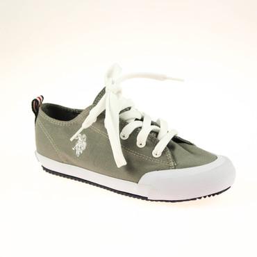 2.Wahl U.S. Polo Damen Sneaker Grau Weiß – Bild 1