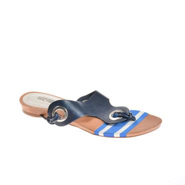 Lottusse Damen Sandale Leder Blau – Bild 1