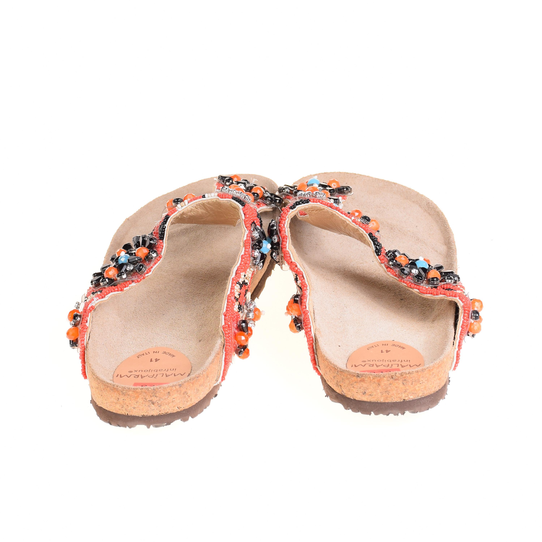 maliparmi damen sandalen flip flops leder rot ebay. Black Bedroom Furniture Sets. Home Design Ideas