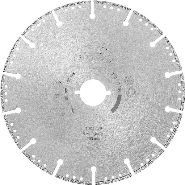 Diamant-Trennscheibe für Tanga DX200, Ø 200, KS-Fenster
