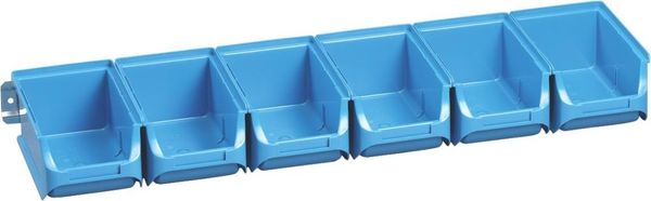 Sichtboxen-Set blau 613x165x75 mm