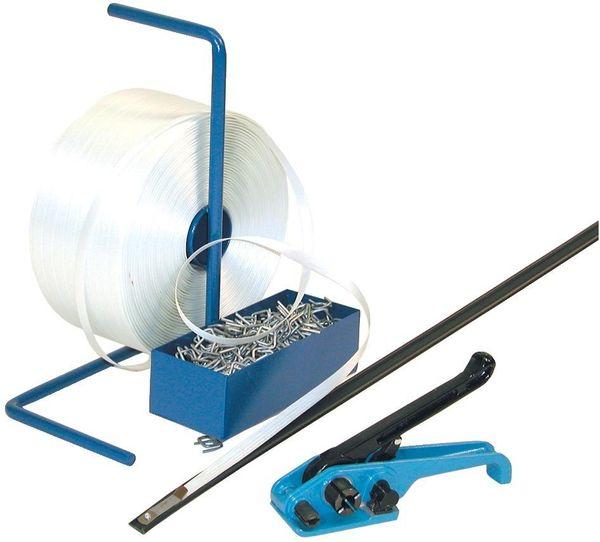 Umreif.Komplettsystem Polyesterband 25mm verl.