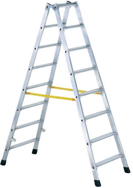 Stufen-Stehleiter beids. Gebördelt 2 x 10 Stufen
