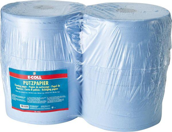 Putzpapier blau, 2-lagig,1000 Blatt 38x36cm E-COLL