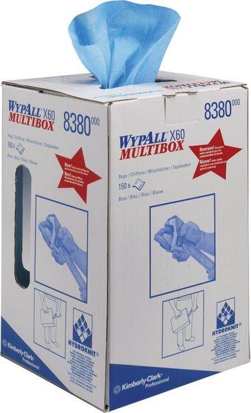 WYPALL X60 Wischtücher 24,5x42cm hellblau 150Bl.