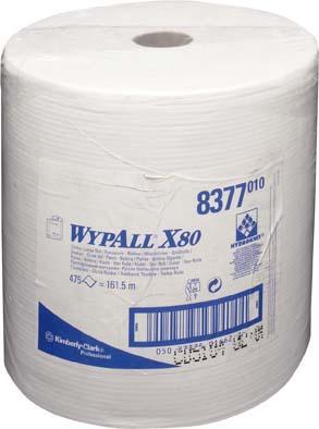 Wischtücher WYPALL X80, weiß, 31,5x34cm, 475Blatt
