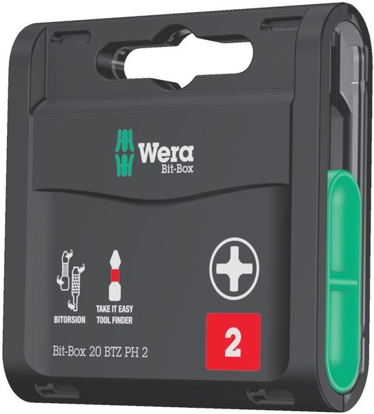 Bit-Box 20 BTZ PH2x 25mm 20er Box Wera