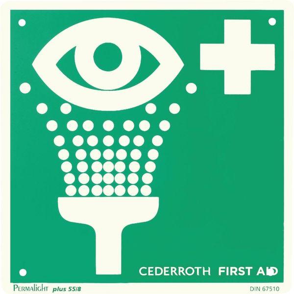 Sicherheitsschild Augendusche