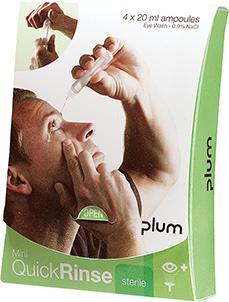 Augenspülamp. Mini Quick Rinse 4x20 ml.