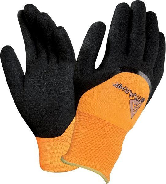 Handsch.ActivArmr 97-011,Gr.9, gelb/schw.
