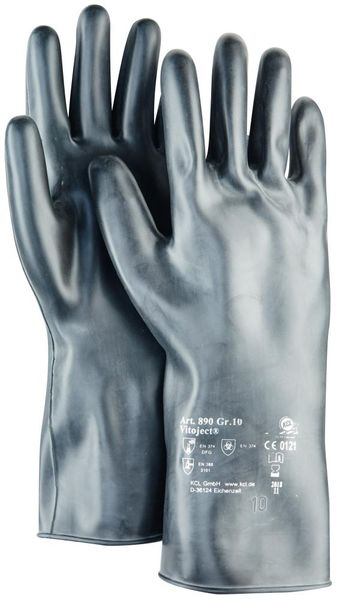 Handschuh Vitoject 890, 350 mm,Gr.10,schwarz