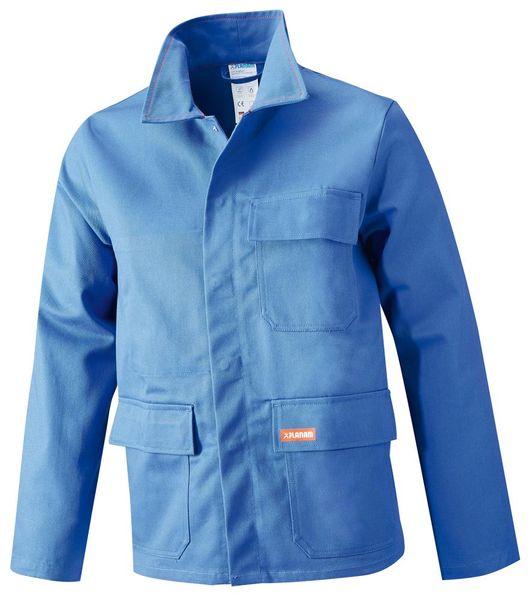 Schweißerjacke,Gr.48, 360 g/qm,kornblau