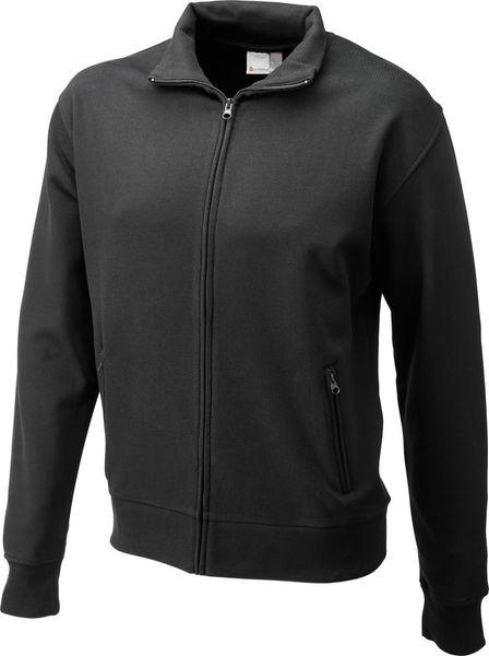 Sweatshirtjacke, Gr. L schwarz