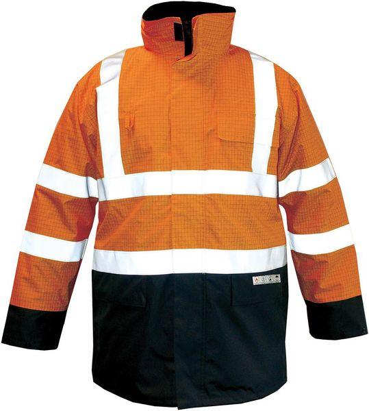 Parka M-Safe Multinorm orange-blau, Gr. XL